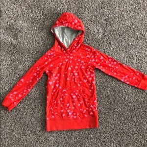 Carters 4t red heart hooded shirt